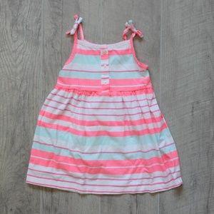 NWOT Carter's Bright Stripe Summer Dress Sz 18 Mo